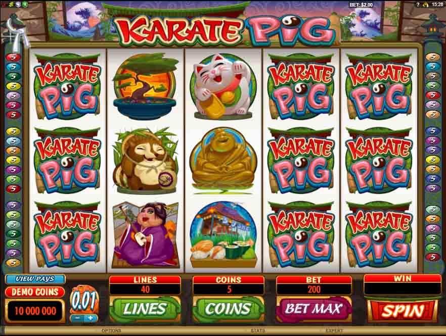Karate Pig เกมสล็อค หมูคาราเต้ สนุกสนานกับเกมสล็อตมากคุณภาพ จากผู้ให้บริการเกมสล็อตมานานหลายปี