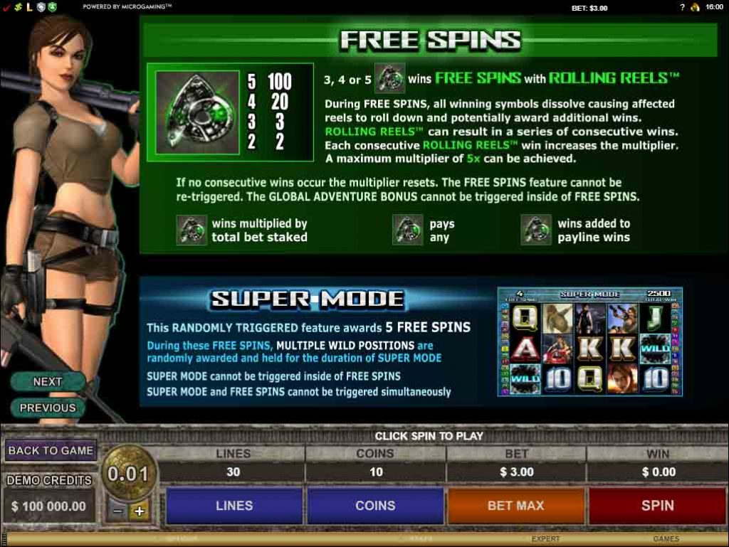 Bonus Credit เกมสล็อต Tomb Raider Secret of the Sword  จากค่ายเกมสล็อตยอดฮิตตลอดกาล
