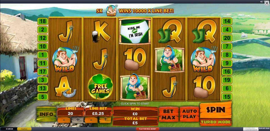 SPUD O' REILLY'S CROPS OF GOLD เกมสล็อตจากค่ายเกม Playtech ผู้ให้บริการเกมมานานหลายปี