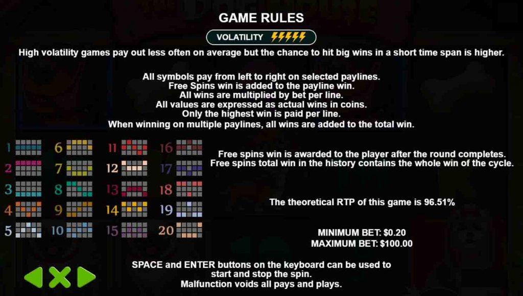 Payline win หรือเส้นแนวทางการจ่าย ของเกมสล็อต The Dog House จากค่ายเกม Pragmatic play