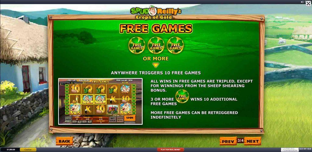 โบนัสเกมสล็อต SPUD O' REILLY'S CROPS OF GOLD จากค่ายเกมดังยอดฮิต Playtech มีเกมมากกว่า 200 เกม