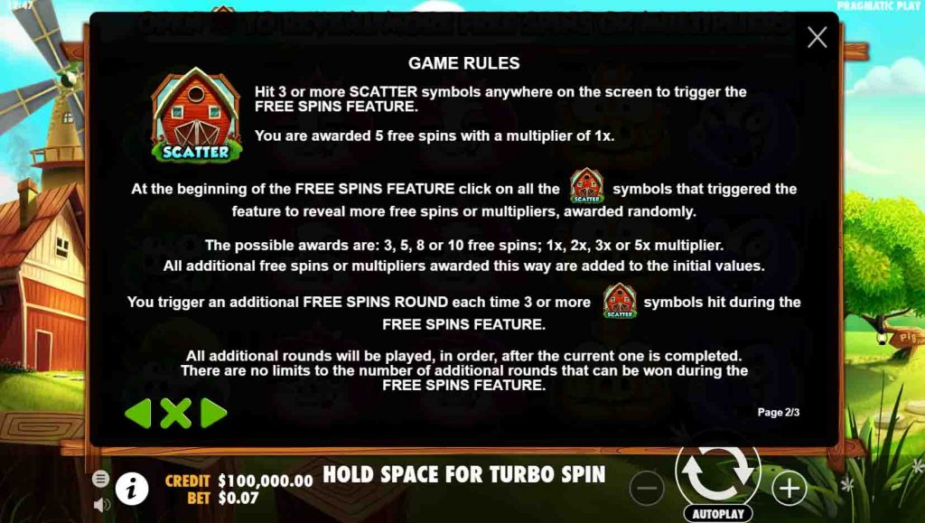 โบนัสของเกมสล็อต 7 Piggies วิธีที่ทำให้ได้โบนัสนั้นเพื่อนๆ ต้องหมุนสล็อตให้ได้สัญลักษณ์ที่กำหนด