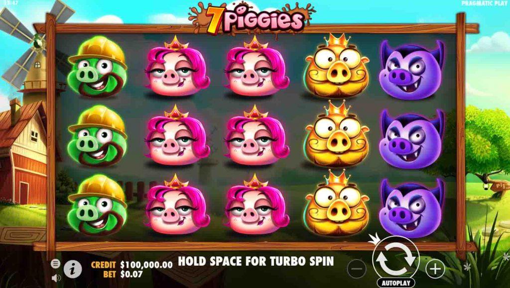 7 Piggies เกมสล็อตจากค่ายดังยอดฮิต  จะพาเพื่อนๆไปสนุกและผจญภัยกับหมูแสนจะน่ารัก