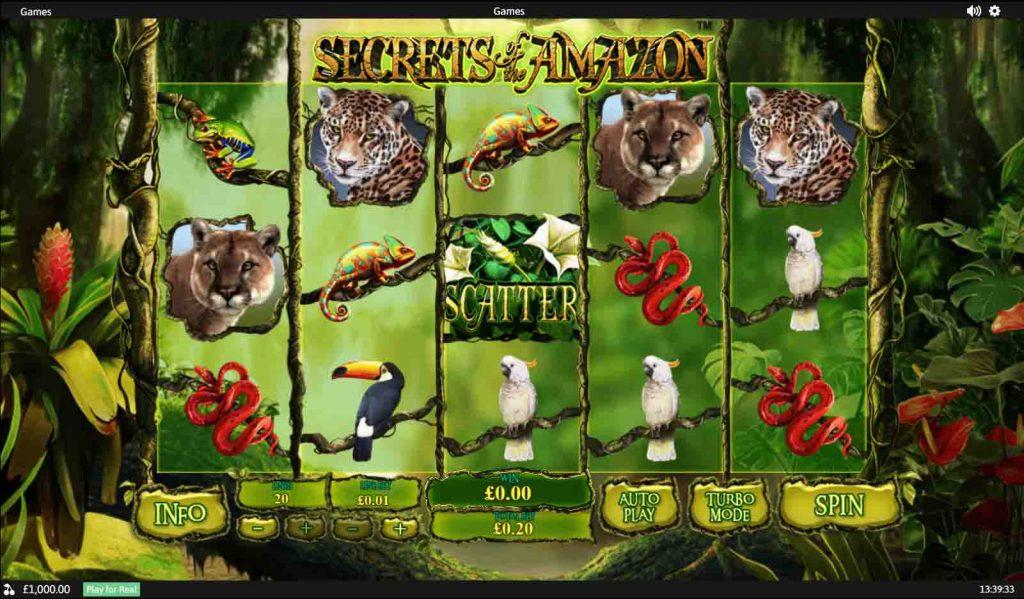 เกมสล็อต Secrets Of The Amazon จากผู้ให้บริการเกมสล็อตมานาน Playtech  มีเกมมากมาย